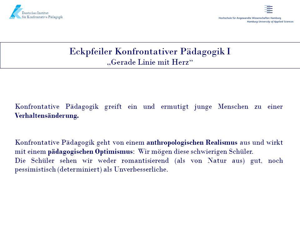 Deutsches Institut für Konfrontative Pädagogik Konfrontative Pädagogik greift ein und ermutigt junge Menschen zu einer Verhaltensänderung. Konfrontati