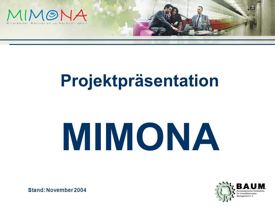 Projektpräsentation MIMONA Stand: November 2004