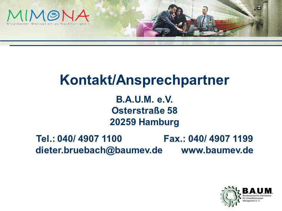 Kontakt/Ansprechpartner B.A.U.M.e.V.