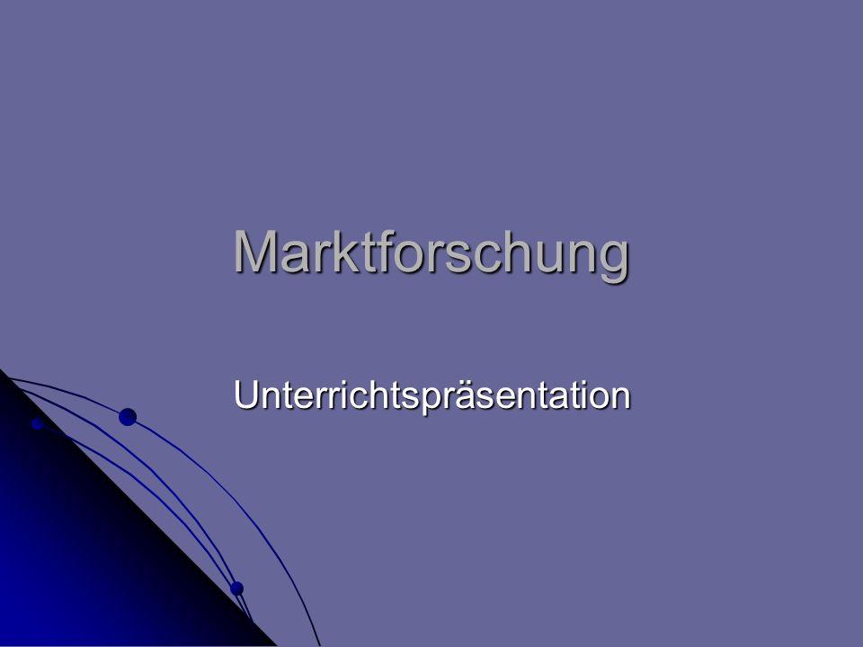 Marktforschung Unterrichtspräsentation