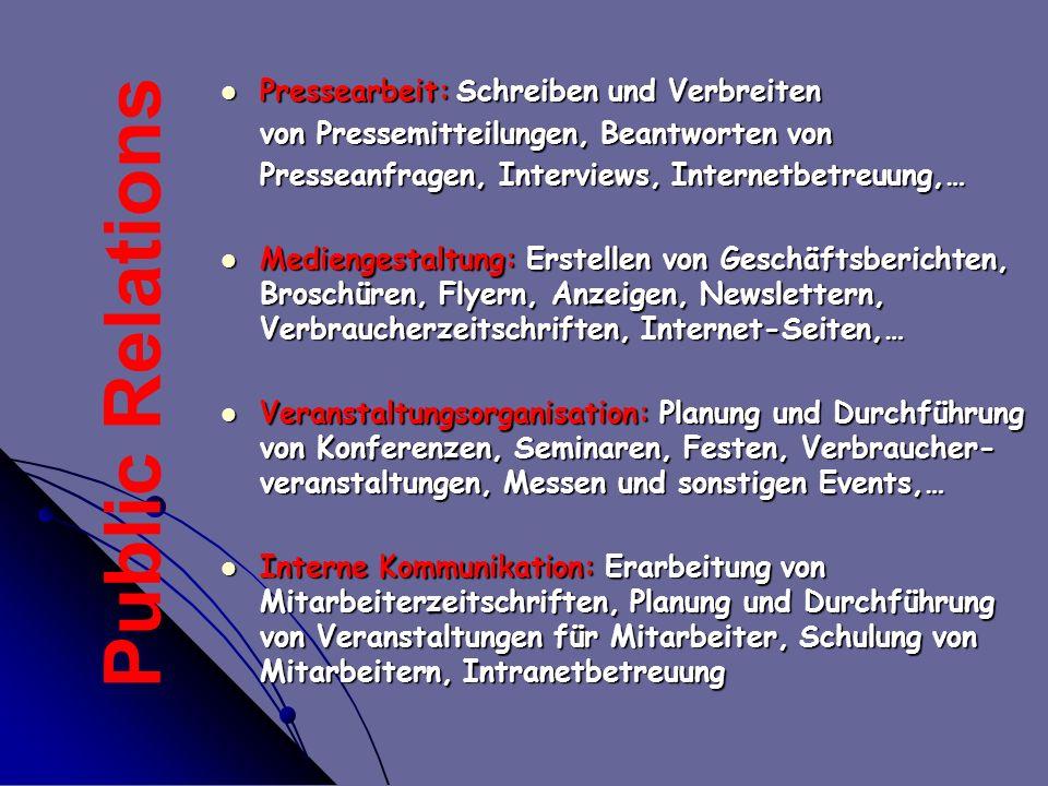 Pressearbeit: Schreiben und Verbreiten Pressearbeit: Schreiben und Verbreiten von Pressemitteilungen, Beantworten von Presseanfragen, Interviews, Inte