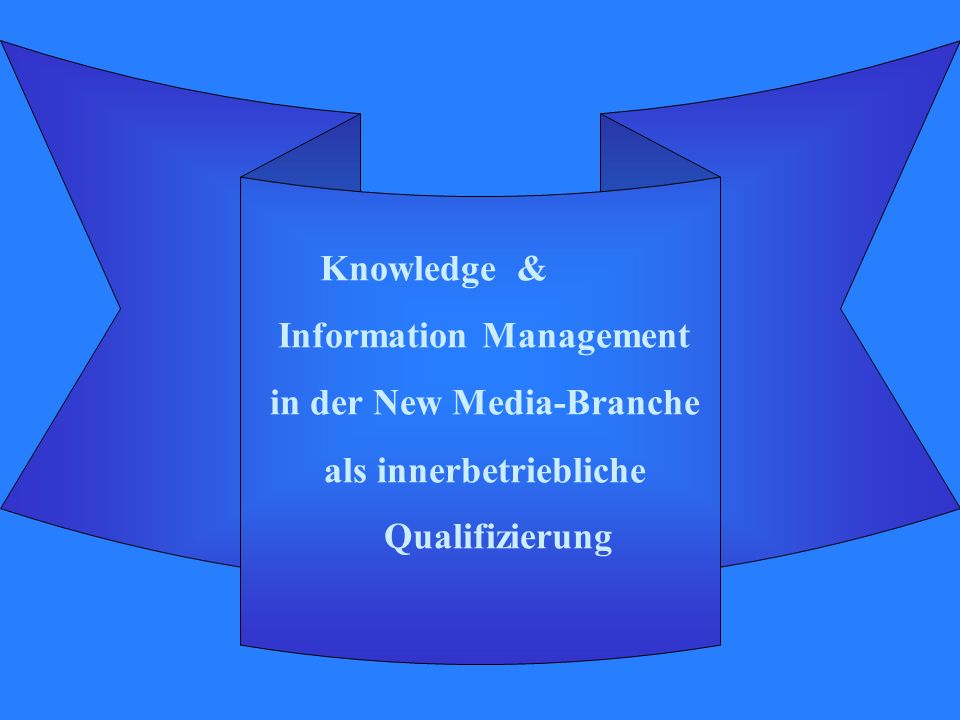 Knowledge & Information Management in der New Media-Branche als innerbetriebliche Qualifizierung