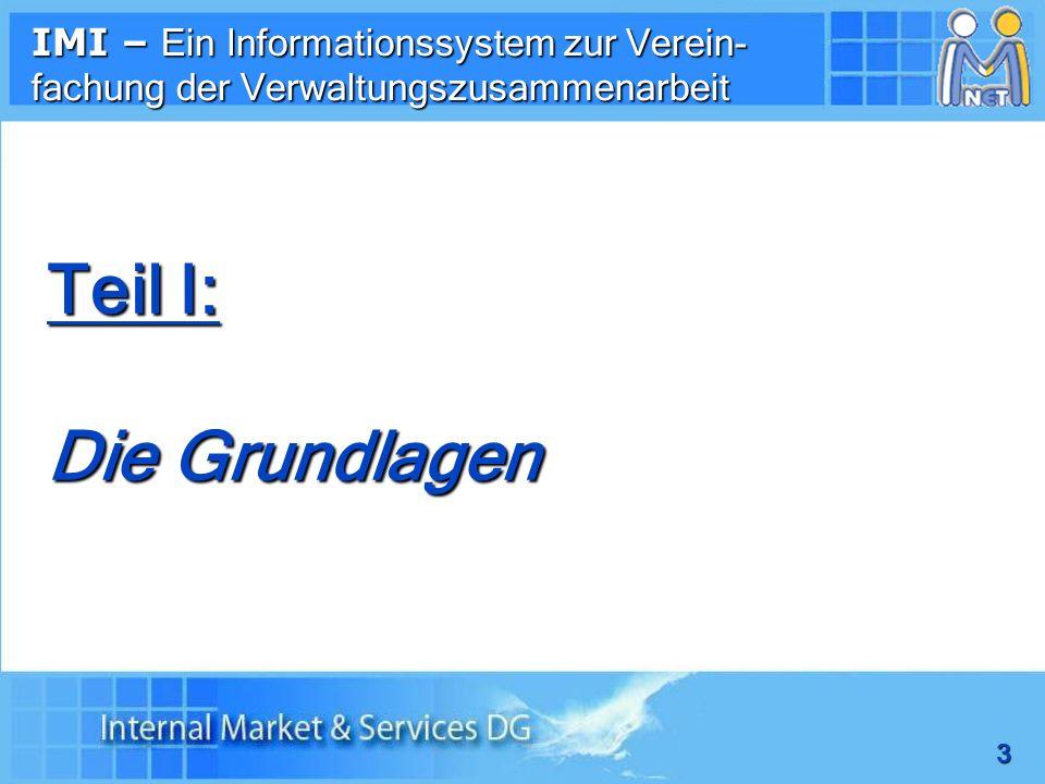 4 IMI ist eine über das Internet (via IMI Homepage) zugängliche Anwendersoftware, keine sonstigen technischen Anforderungen Zugang nur für registrierte Nutzer/innen von authentifizierten Behörden/Stellen Voraussetzungen für ein erstes Einloggen: - Benutzername - vorläufiges Passwort 1.