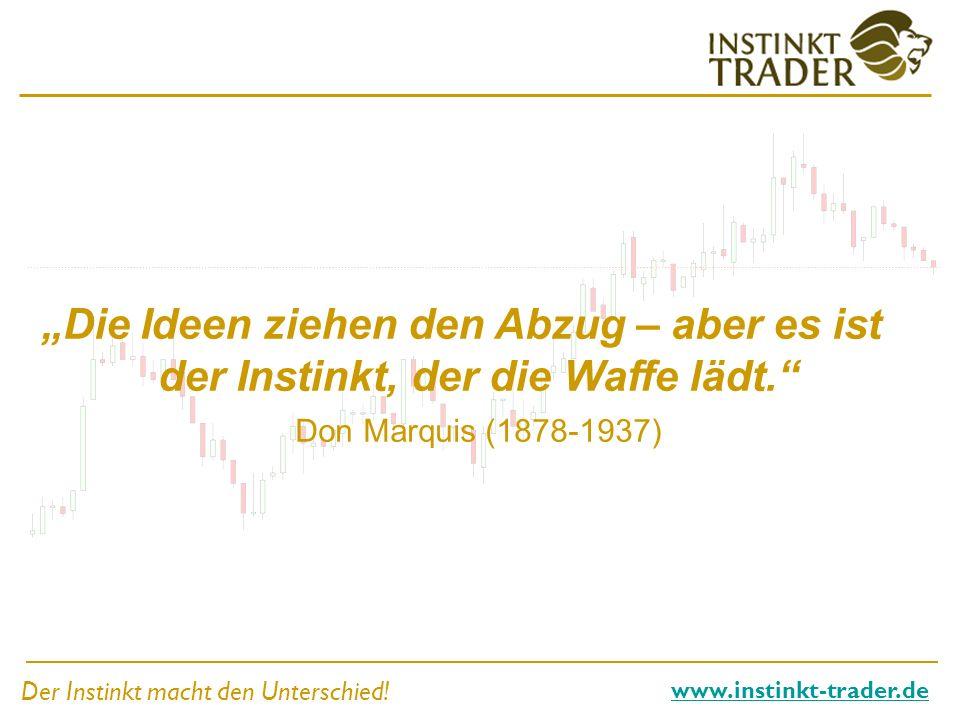 Der Instinkt macht den Unterschied! www.instinkt-trader.de Die Ideen ziehen den Abzug – aber es ist der Instinkt, der die Waffe lädt. Don Marquis (187