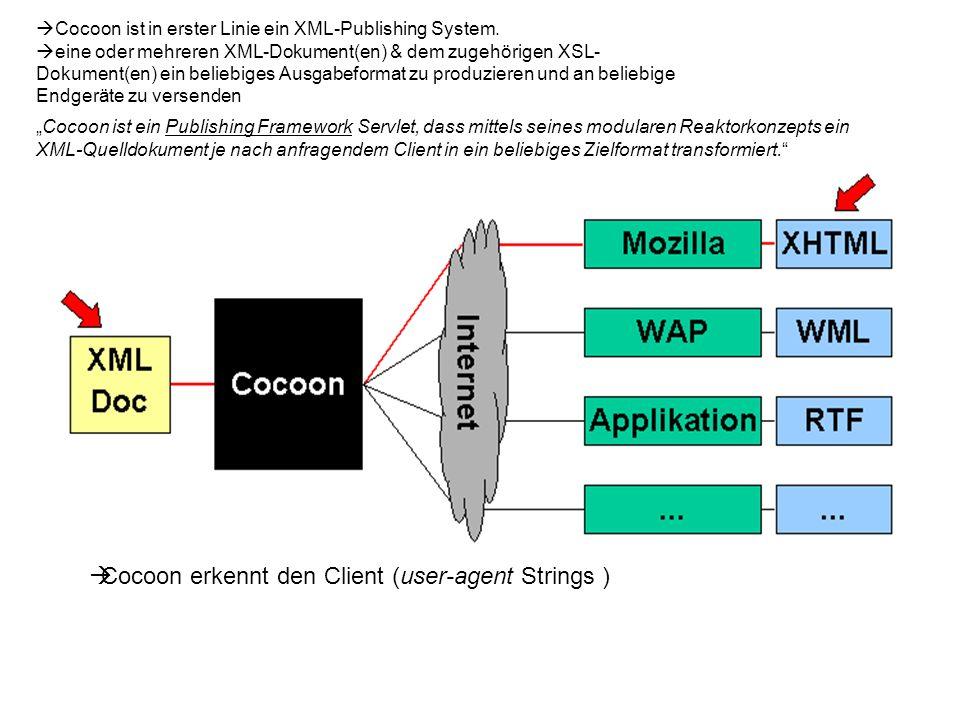 Cocoon ist in erster Linie ein XML-Publishing System.
