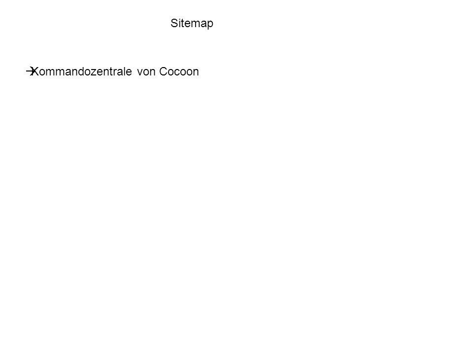 Sitemap Kommandozentrale von Cocoon