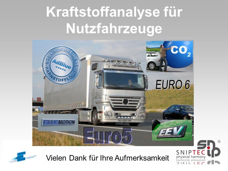 Kraftstoffanalyse für Nutzfahrzeuge Vielen Dank für Ihre Aufmerksamkeit