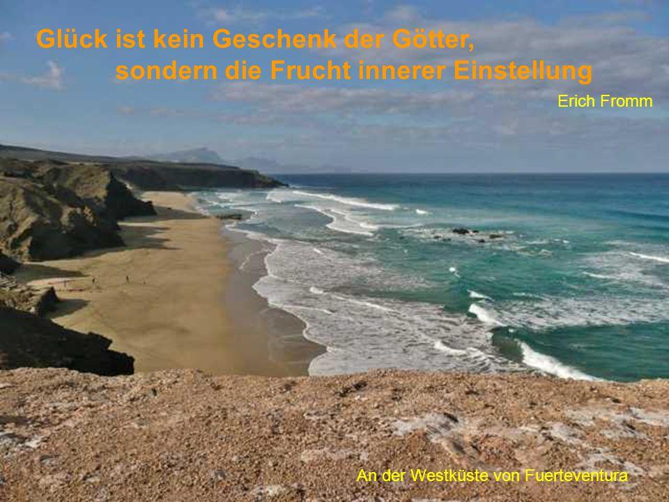 Glück ist kein Geschenk der Götter, sondern die Frucht innerer Einstellung Erich Fromm An der Westküste von Fuerteventura