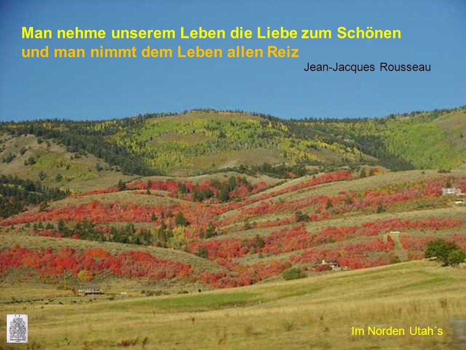 Man nehme unserem Leben die Liebe zum Schönen und man nimmt dem Leben allen Reiz Jean-Jacques Rousseau Im Norden Utah´s
