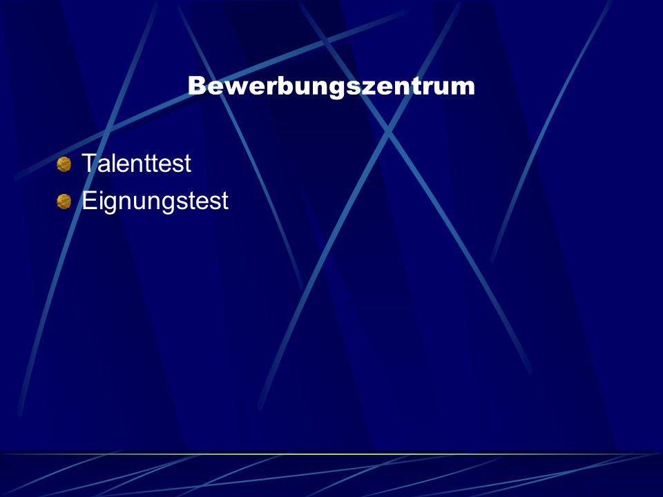 Bewerbungszentrum Talenttest Eignungstest