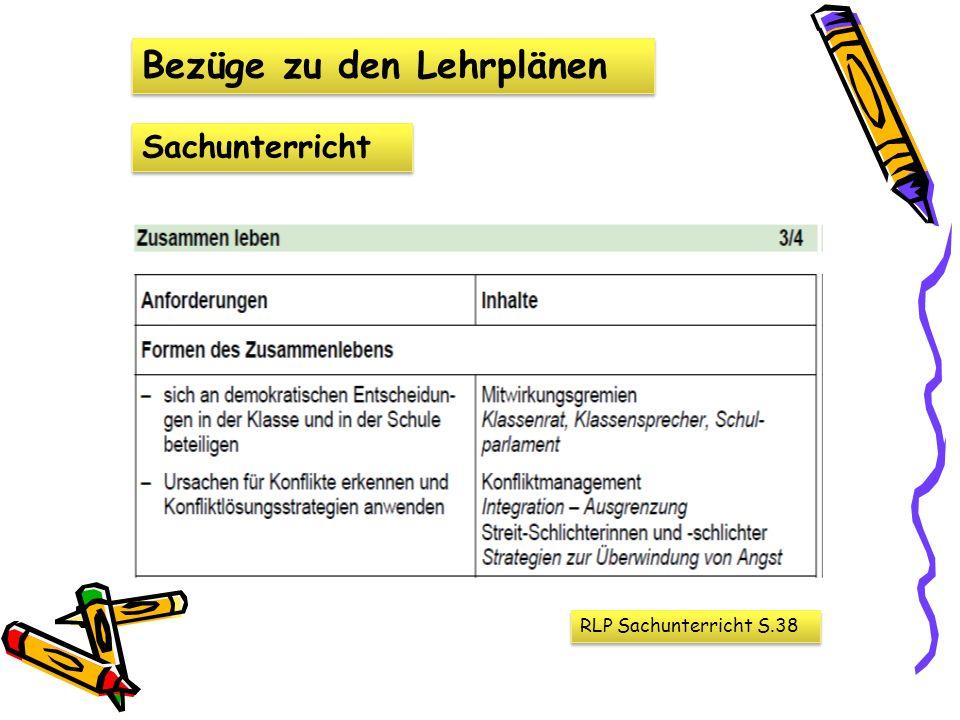 Bezüge zu den Lehrplänen Sachunterricht RLP Sachunterricht S.38