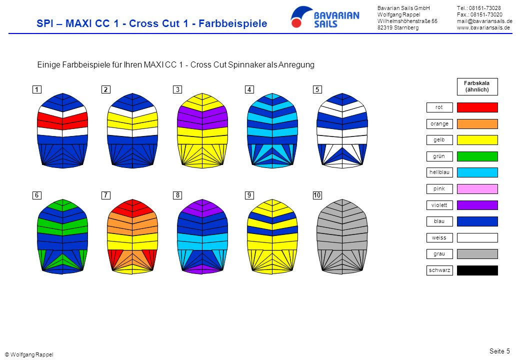 Bavarian Sails GmbH Wolfgang Rappel Wilhelmshöhenstraße 55 82319 Starnberg Tel.: 08151-73028 Fax.: 08151-73020 mail@bavariansails.de www.bavariansails
