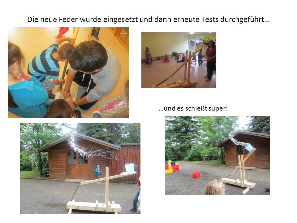 Die neue Feder wurde eingesetzt und dann erneute Tests durchgeführt… …und es schießt super!