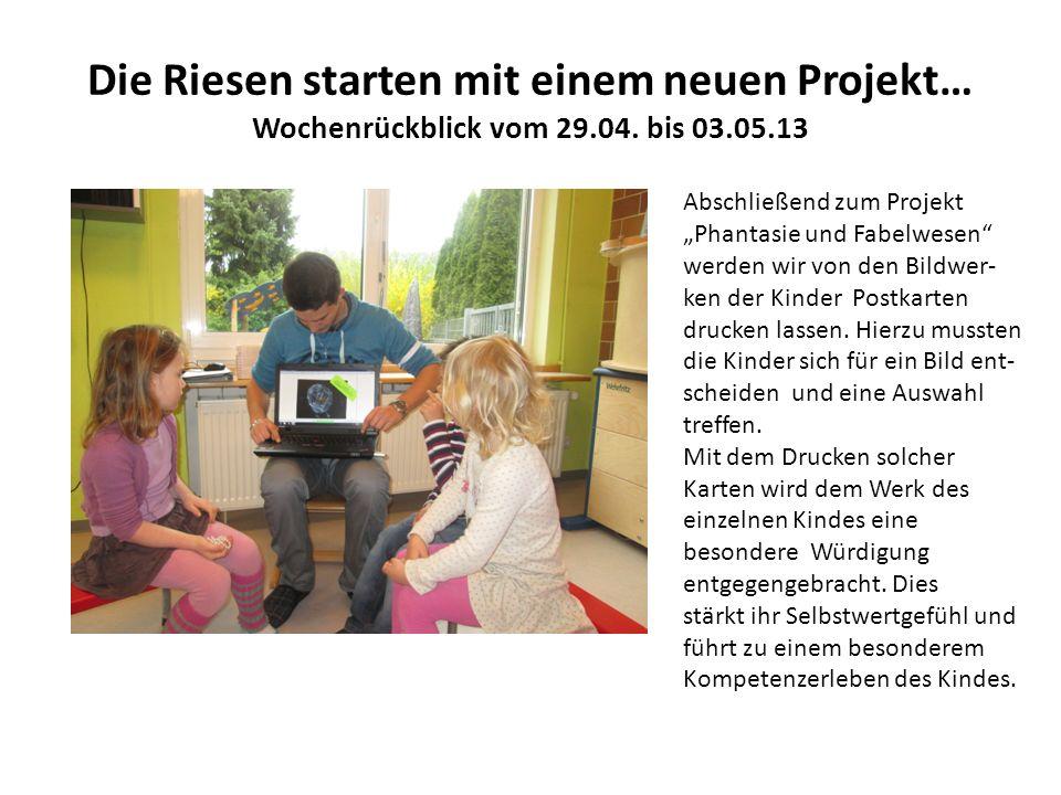Die Riesen starten mit einem neuen Projekt… Wochenrückblick vom 29.04.