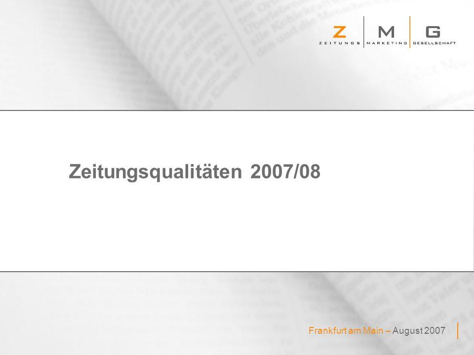 42 Zeitungsqualitäten 2007/08 Was stört Sie am Fernsehprogramm.