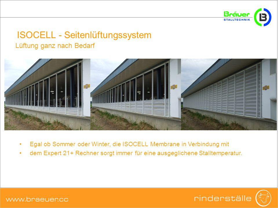 ISOCELL - Seitenlüftungssystem Lüftung ganz nach Bedarf Egal ob Sommer oder Winter, die ISOCELL Membrane in Verbindung mit dem Expert 21+ Rechner sorg