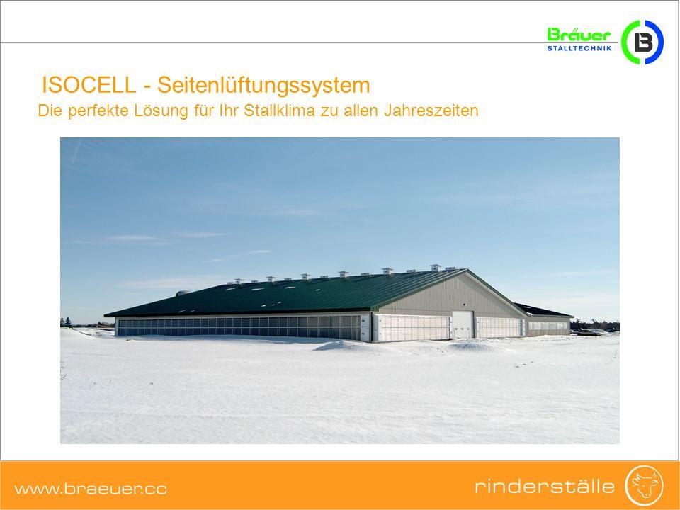 ISOCELL - Seitenlüftungssystem Eine Membran kann maximal 3 Kammern + Mindestluftöffnung enthalten.