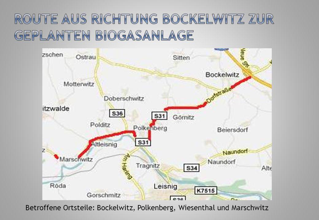 Betroffene Ortsteile: u. a. Colditz, Zschadraß, Podelwitz, Tanndorf, Seidewitz