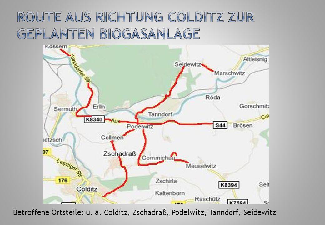 Betroffene Ortsteile: u. a. Dürrweitzschen, Böhlen, Zschoppach, Leipnitz, Seidewitz