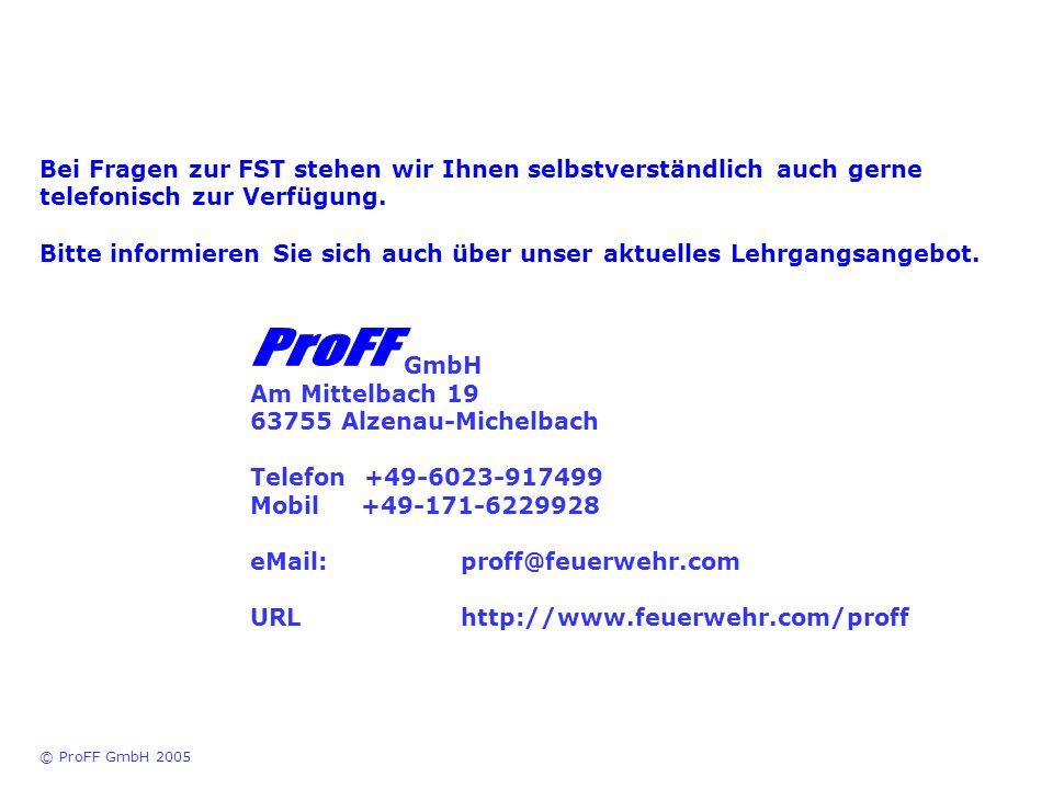 Bei Fragen zur FST stehen wir Ihnen selbstverständlich auch gerne telefonisch zur Verfügung. Bitte informieren Sie sich auch über unser aktuelles Lehr