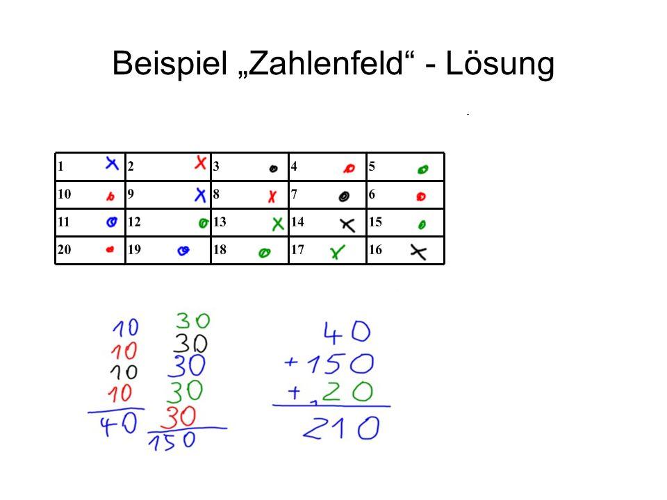 Beispiel Zahlenfeld - Lösung