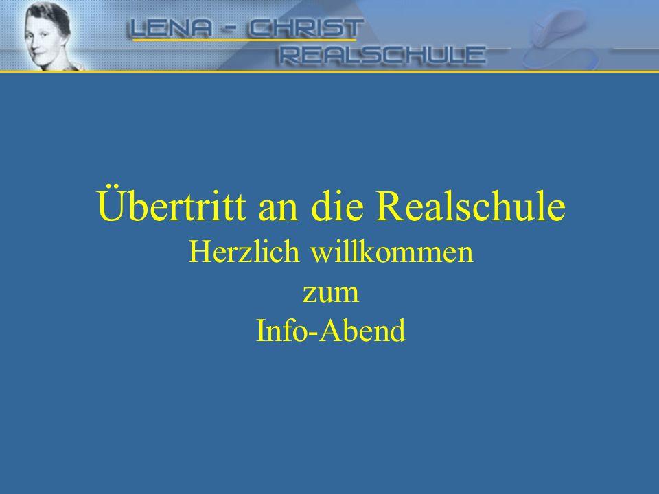 Die Realschule in Bayern – Der Übertritt in die Realschule zum Schuljahr 2013/2014 Eintrittsmöglichkeit nach der 4.