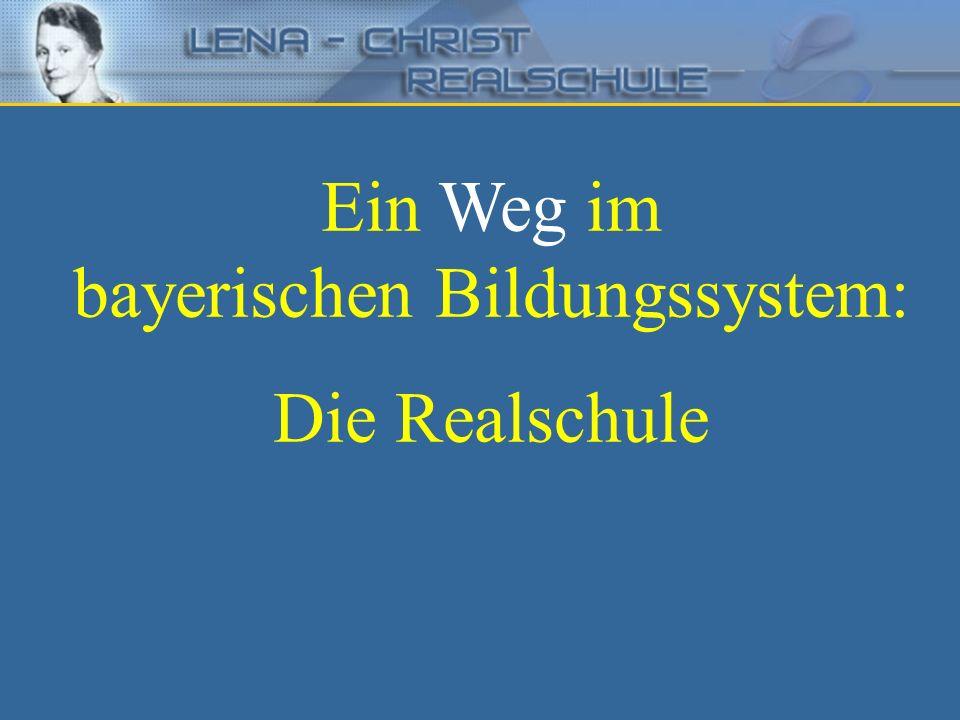 in Bayern Der Bildungsauftrag der Realschule Bayerisches Staatsministerium für Unterricht und Kultus Die Realschule vermittelt eine erweiterte Allgemeinbildung und unterstützt die Schülerinnen und Schüler bei der beruflichen Orientierung.