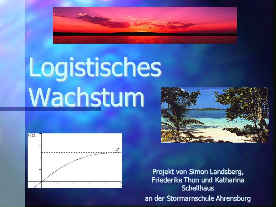 Logistisches Wachstum - Beispielaufgabe a)Da zunächst nur ein Bewohner infiziert war, ist a=1.
