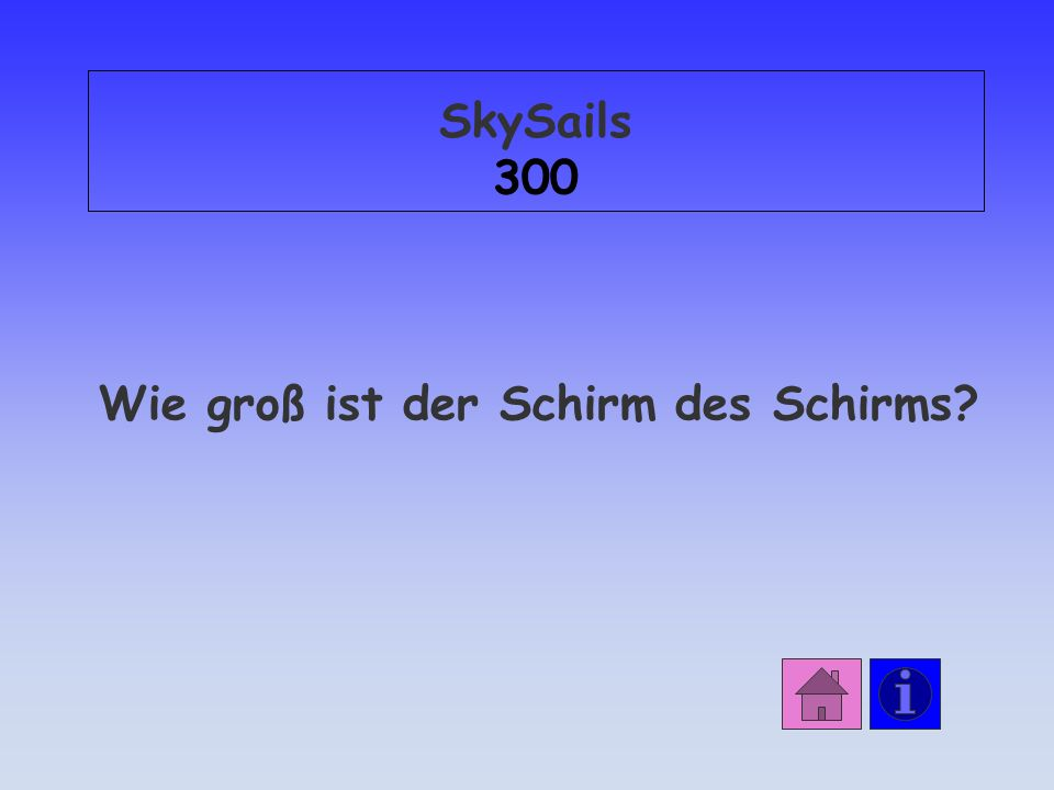 SkySails 300 Wie groß ist der Schirm des Schirms?