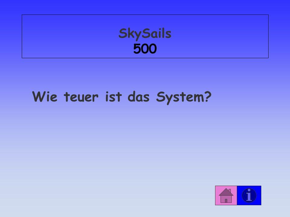 SkySails 500 Wie teuer ist das System?