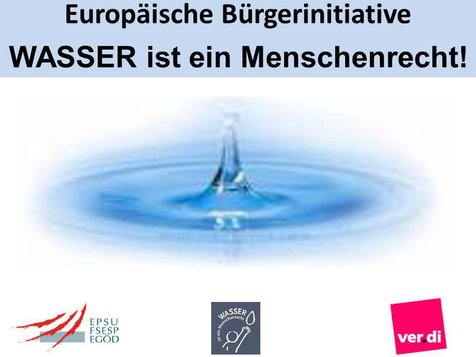 Europäische Bürgerinitiative WASSER ist ein Menschenrecht!