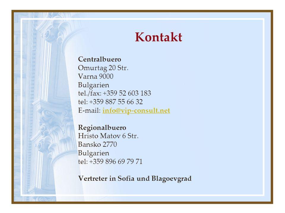 Кontakt Centralbuero Omurtag 20 Str.
