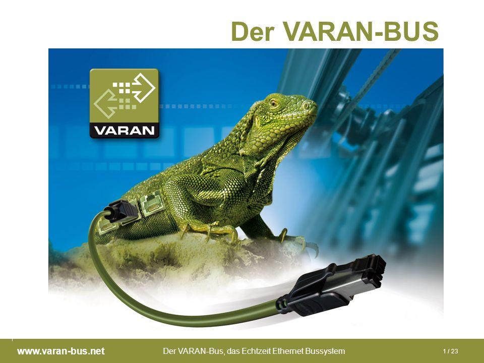 Der VARAN-Bus, das Echtzeit Ethernet Bussystem www.varan-bus.net 1 / 23 Der VARAN-BUS