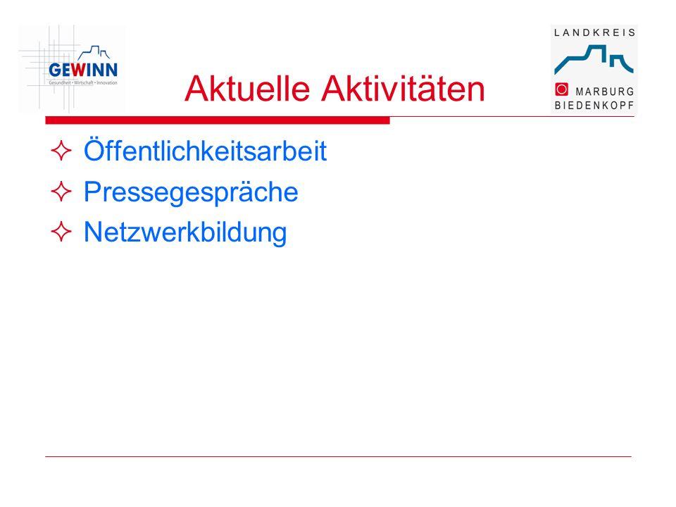 Aktuelle Aktivitäten Öffentlichkeitsarbeit Pressegespräche Netzwerkbildung