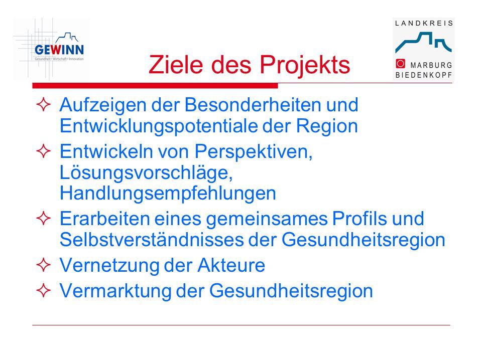 Ziele des Projekts Aufzeigen der Besonderheiten und Entwicklungspotentiale der Region Entwickeln von Perspektiven, Lösungsvorschläge, Handlungsempfehl