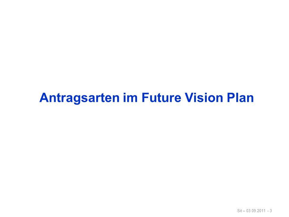 Sit – 03.09.2011 - 4 Antragsarten im Future Vision Plan District Grants (DG) - max.