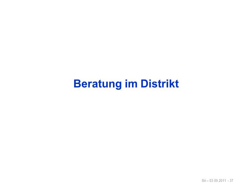 Sit – 03.09.2011 - 37 Beratung im Distrikt