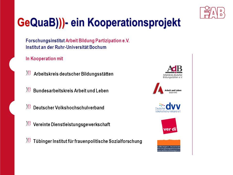 Arbeitskreis deutscher Bildungsstätten Bundesarbeitskreis Arbeit und Leben Deutscher Volkshochschulverband Vereinte Dienstleistungsgewerkschaft Tübing