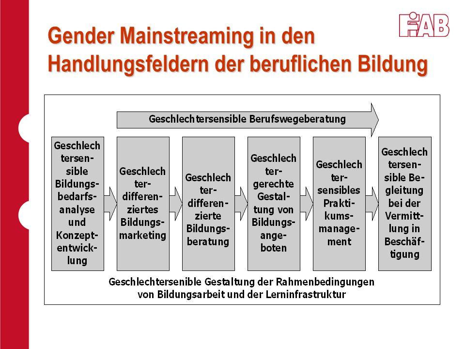Gender Mainstreaming in den Handlungsfeldern der beruflichen Bildung