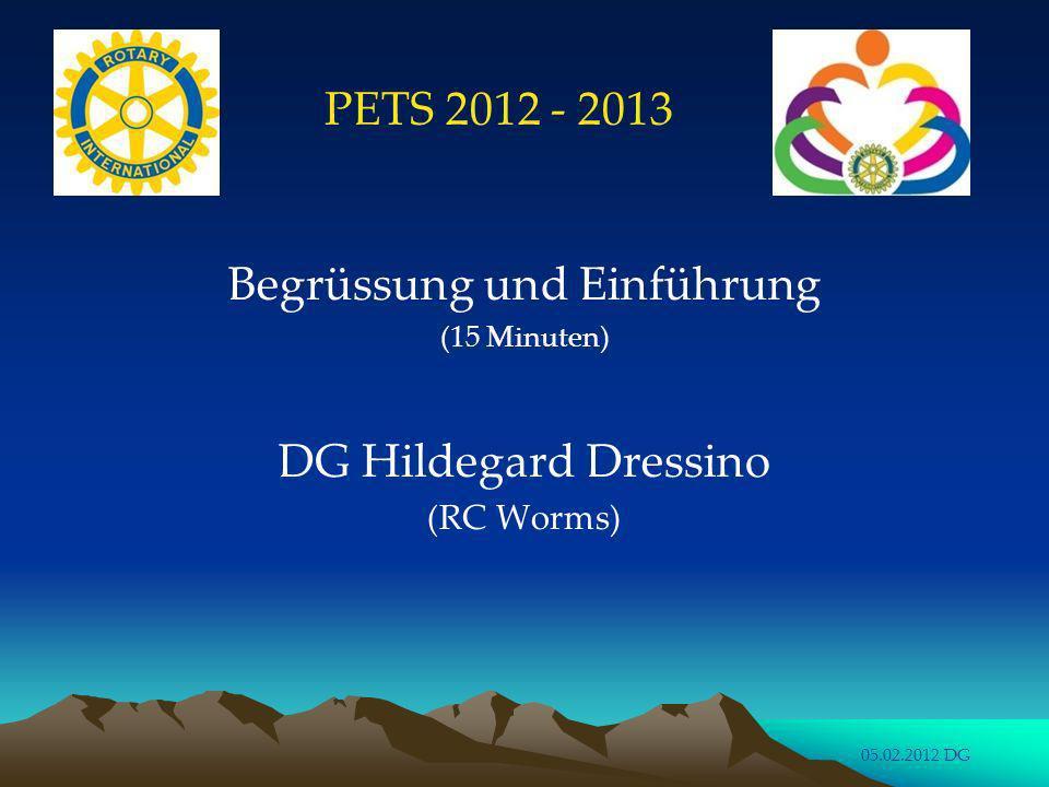 PETS 2012: Vorstellung (10 Minuten)