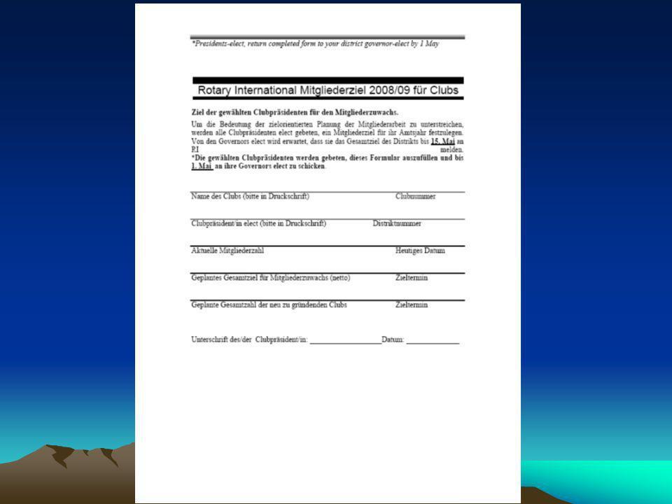 Aufgaben des Präsidenten Support für Club-Amtsträger: www.rotary.org > Mitgliederzutritt (Kopfleiste rechts oben) > Login Email & Passwort (registrieren u.