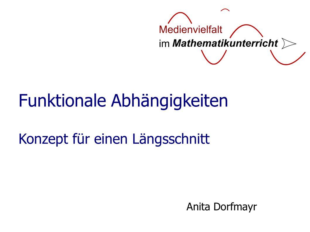 Funktionale Abhängigkeiten Konzept für einen Längsschnitt Anita Dorfmayr