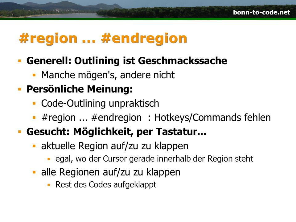 bonn-to-code.net #region...
