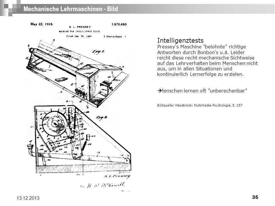 35 13.12.2013 Mechanische Lehrmaschinen - Bild Intelligenztests Presseys Maschine