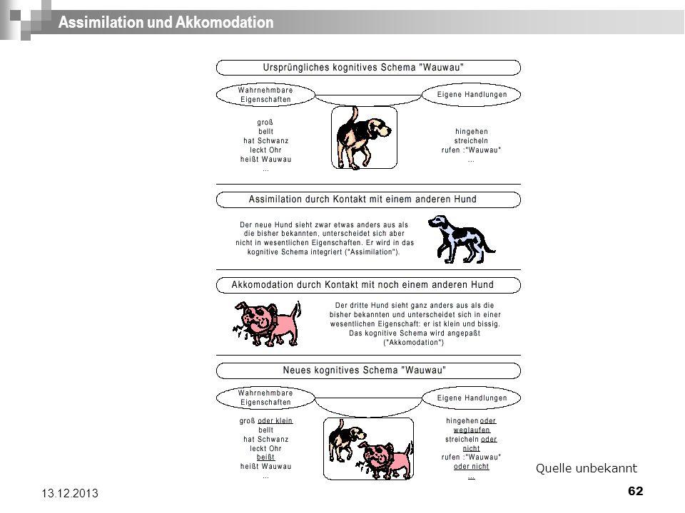 62 13.12.2013 Assimilation und Akkomodation Quelle unbekannt