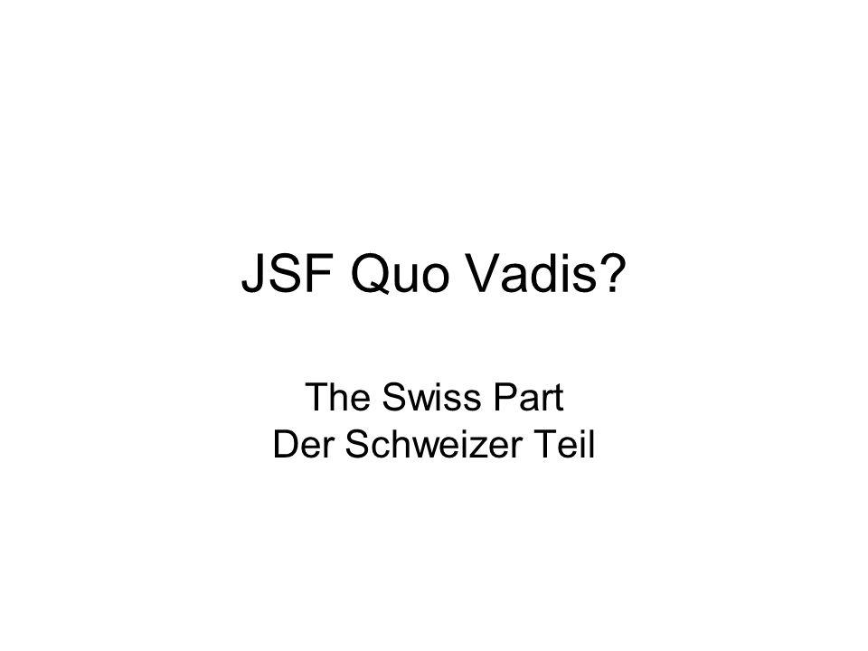 JSF Quo Vadis? The Swiss Part Der Schweizer Teil