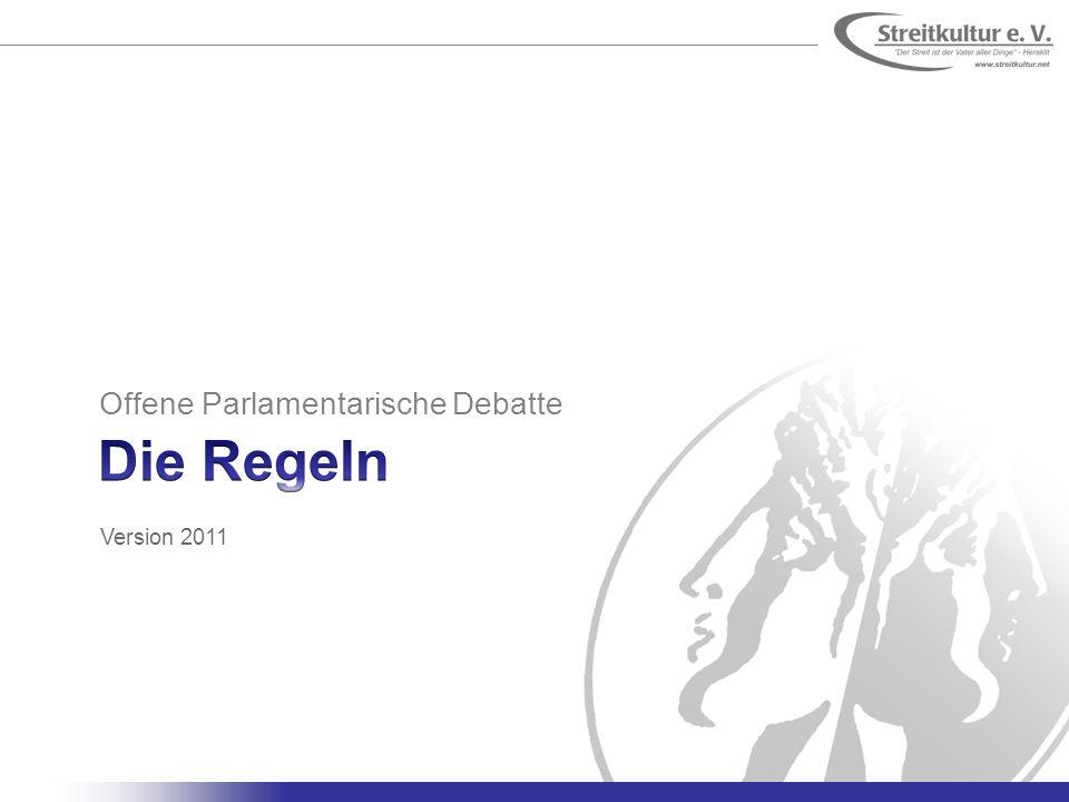 Offene Parlamentarische Debatte Version 2011
