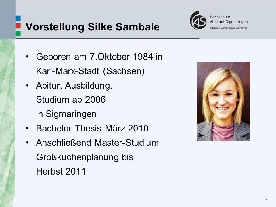 Geboren am 7.Oktober 1984 in Karl-Marx-Stadt (Sachsen) Abitur, Ausbildung, Studium ab 2006 in Sigmaringen Bachelor-Thesis März 2010 Anschließend Maste