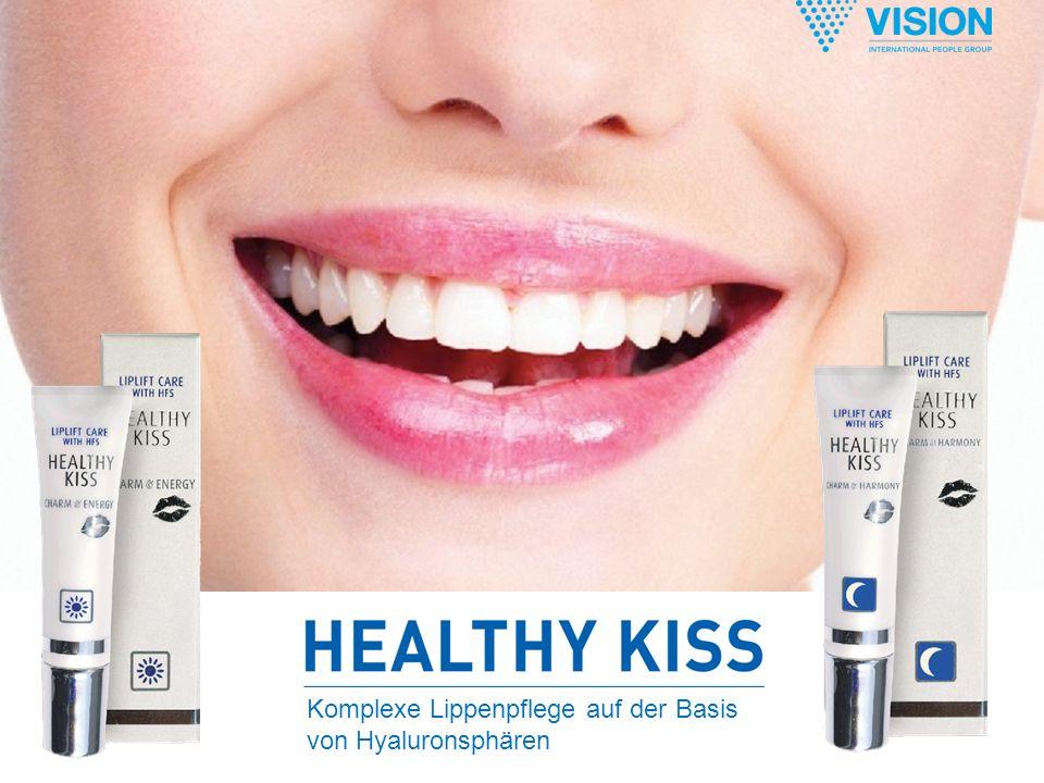 Komplexe Lippenpflege auf der Basis von Hyaluronsphären