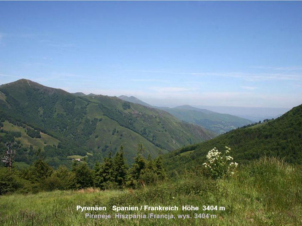 Sierra Nevada Spanien Höhe 3482 m Sierra Nevada Hiszpania, wys. 3482 m